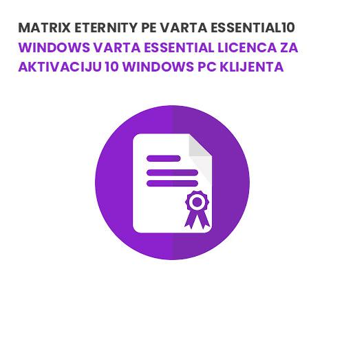 Matrix ETERNITY PE VARTA ESSENTIAL10