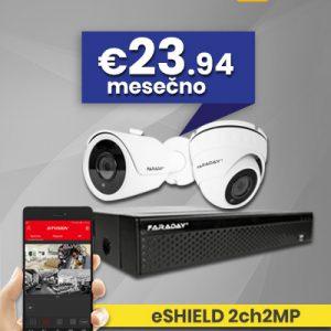 Paket video nadzor eSHIELD 2ch2MP