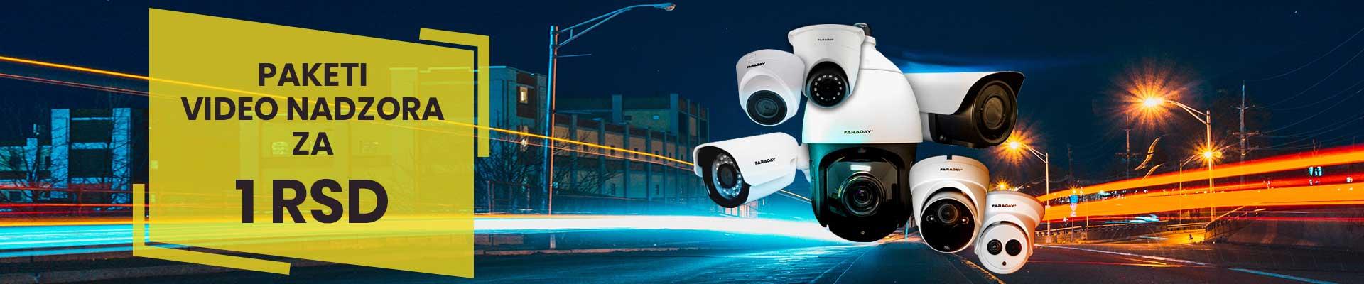 Paketi video nadzora za 1 RSD