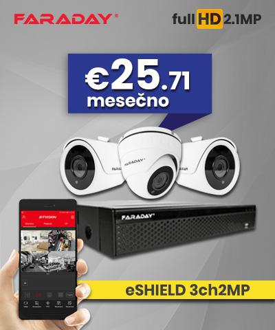 Video nadzor paket 3ch2MP