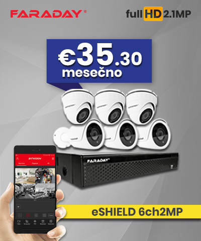 Video nadzor paket 6ch2MP