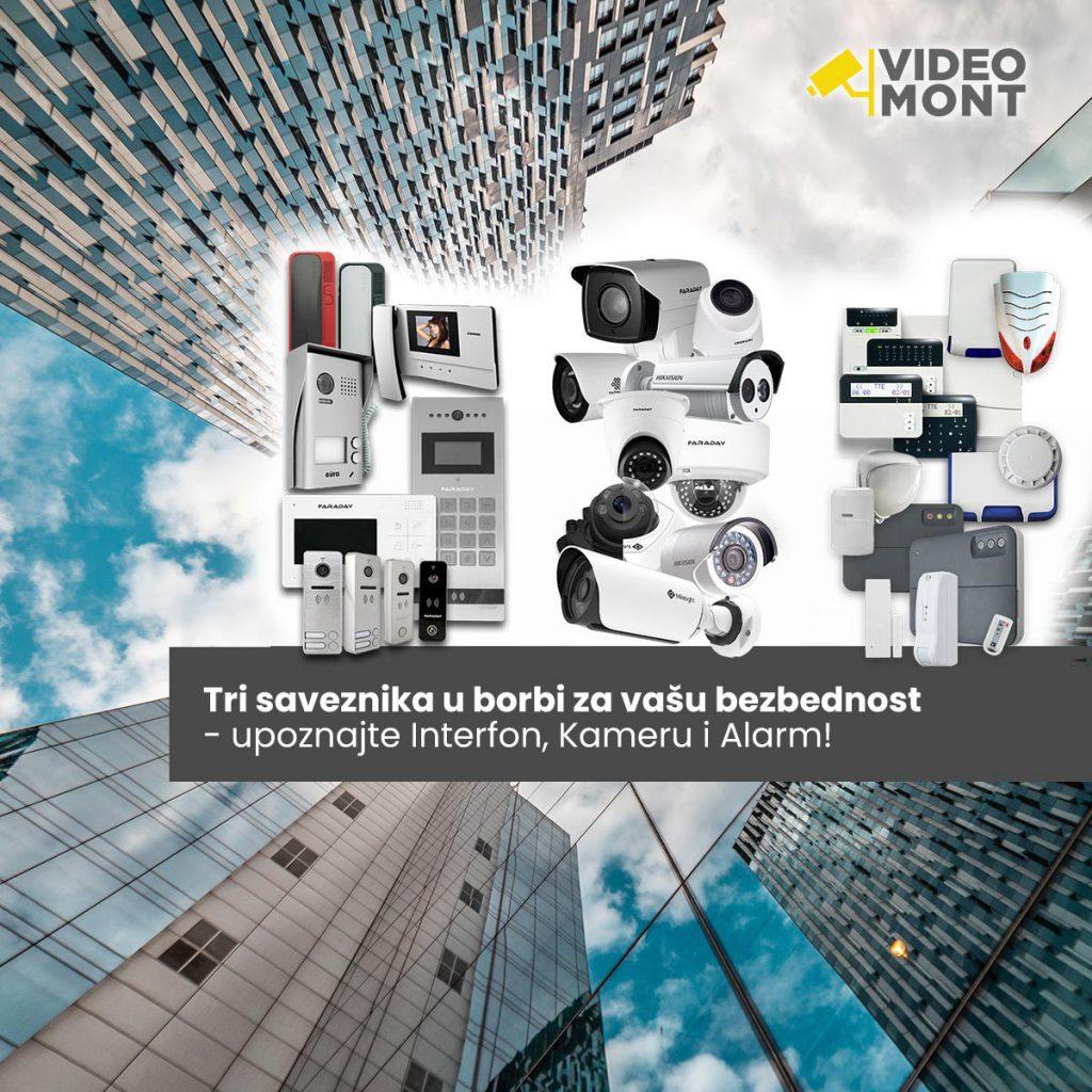 Tri saveznika za bezbednost - interfon, kamera i alarm