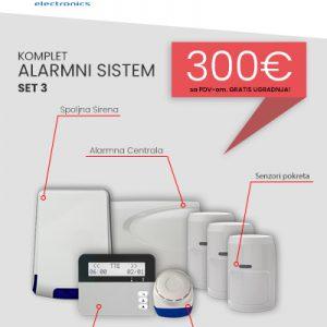Komplet Alarmnog sistema SET3